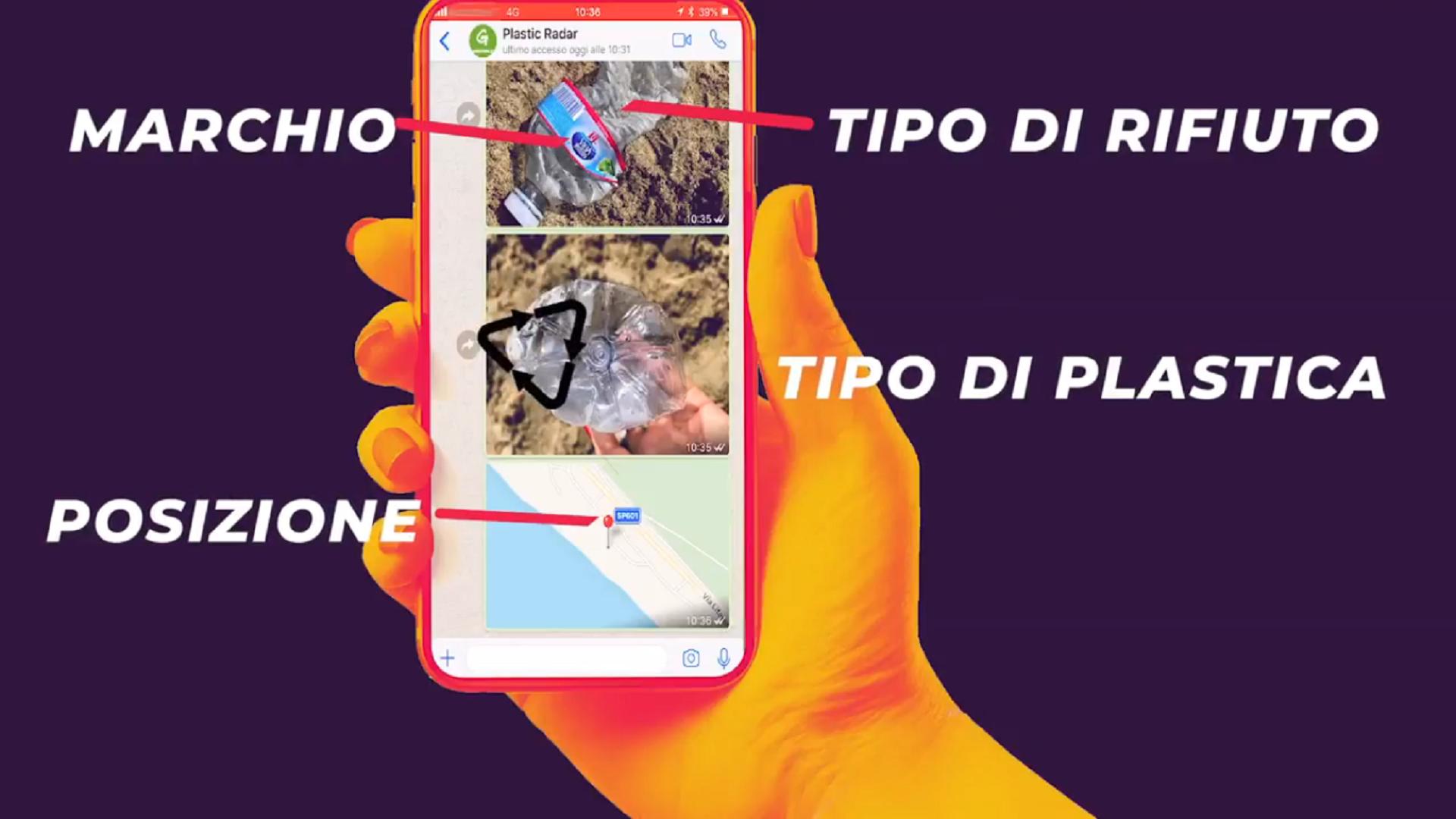 Plastic Radar, per segnalare i rifiuti in mare via Whatsapp