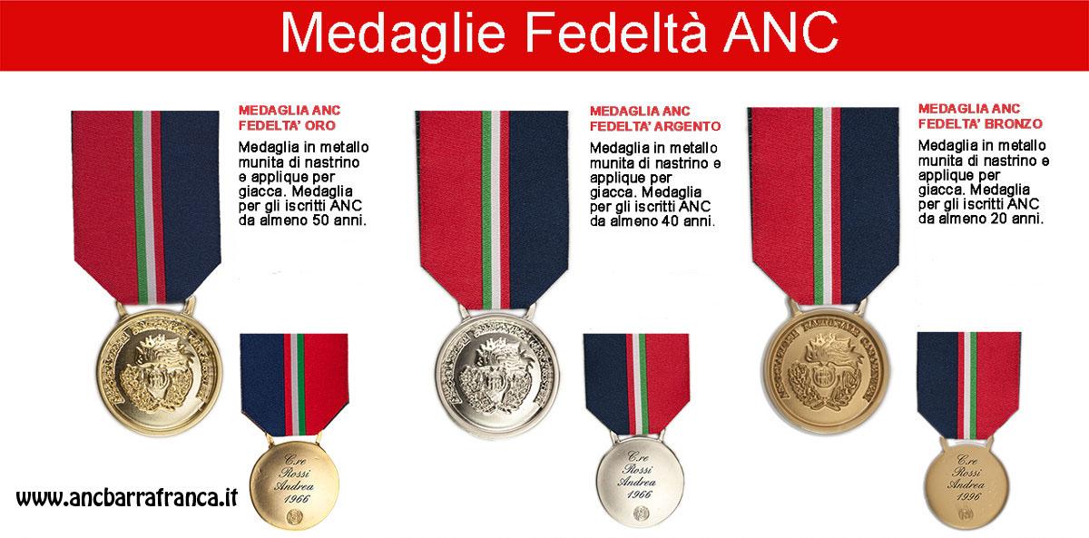 Medaglie Fedeltà ANC